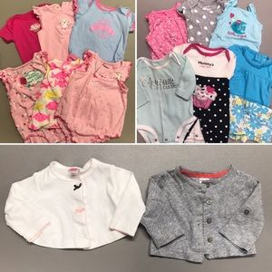 16 Piece Lot Baby Girl 3 Month Clothes